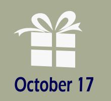 17. oktobris Dzimšanas dienas
